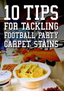 10 Tips for Tackling Football Party Carpet Stains