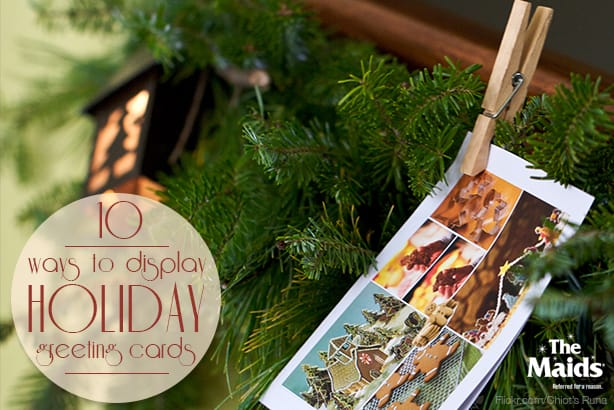 10 Ways to Display Holiday Greeting Cards