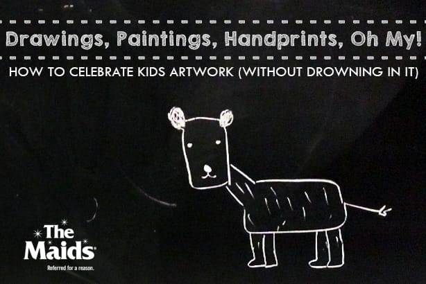 Drawings, paintings, handprints, oh my! How to celebrate kids artwork (without drowning in it)