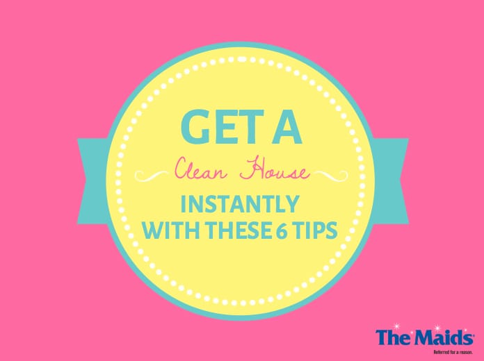 Get A Clean House Instantly With These 6 Tips | The Maids - See more at https://www.maids.com/blog/get-a-clean-house-instantly-with-these-cleaning-tips/