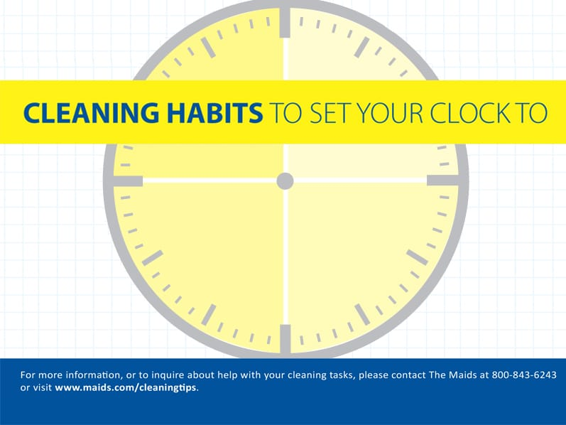 Cleaning Habits To Set Your Clock To