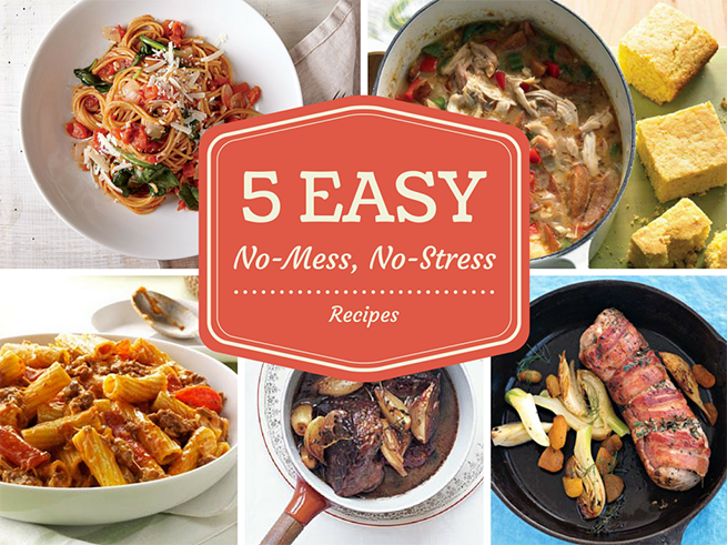 five easy recipes with no mess