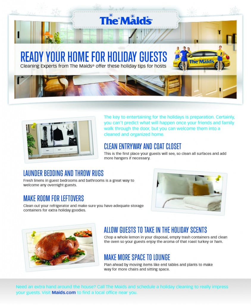 holiday cleaning tips infograph