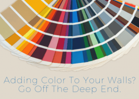 Adding color to your walls? Go off the deep end.