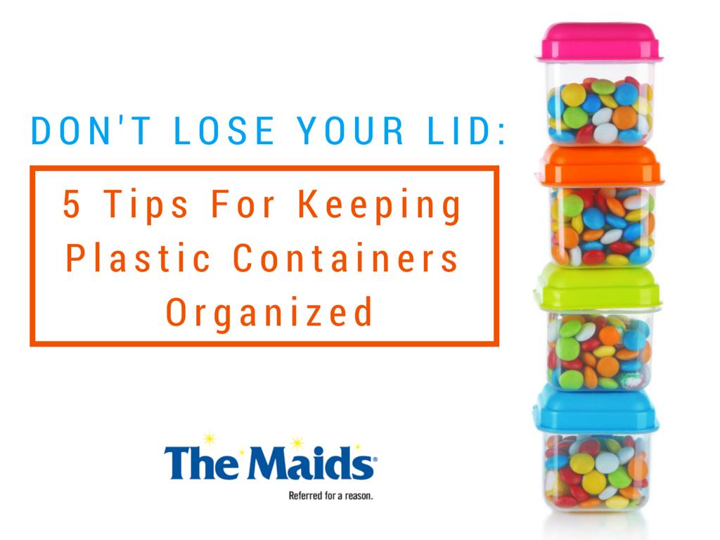 organizing plastic containers