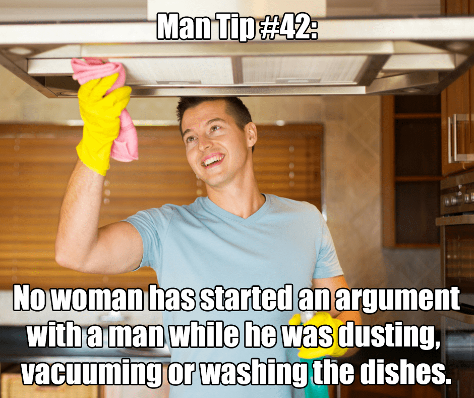 men cleaning meme