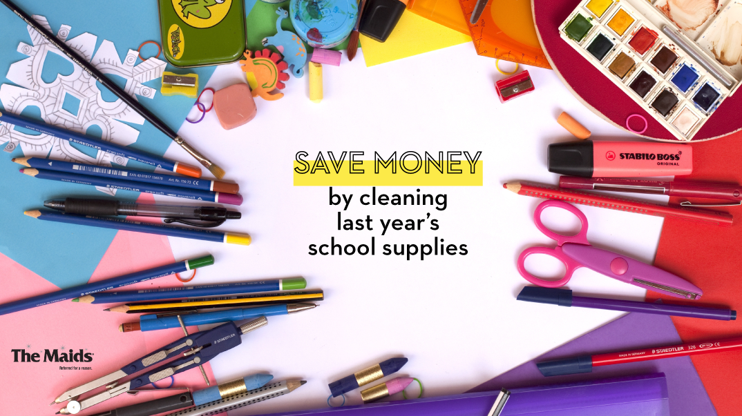 Save Money By Cleaning Last Year's School Supplies