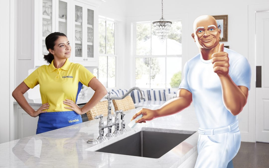 Housekeeping Services Now With Extra Muscle﹣The Maids Partners With Mr. Clean