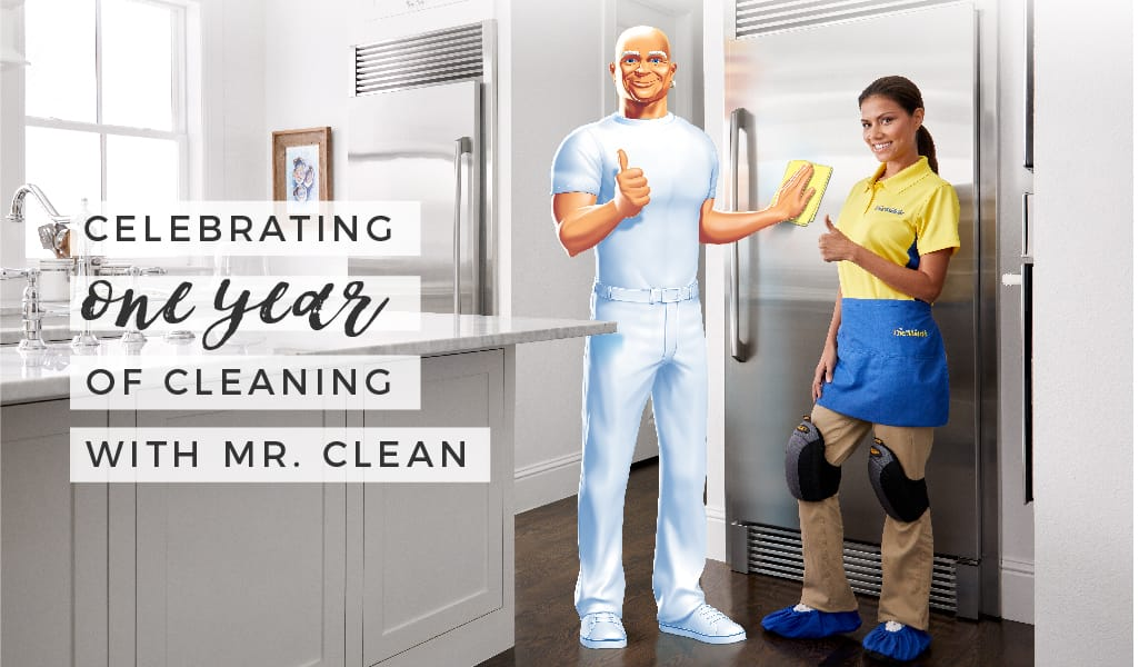Celebrating 1 Year of Cleaning with Mr. Clean
