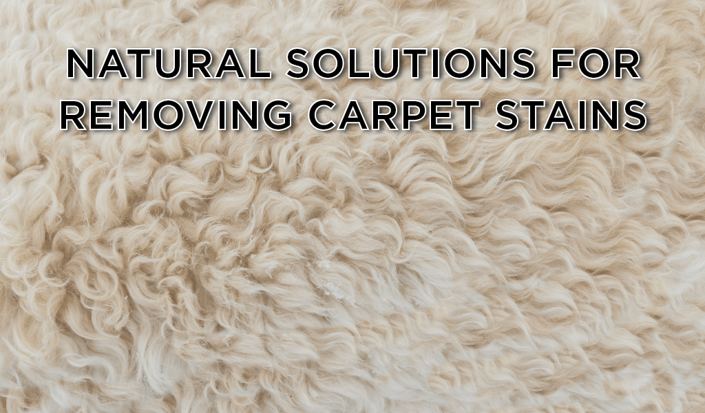 Natural Solutions for Removing Stains from Carpet