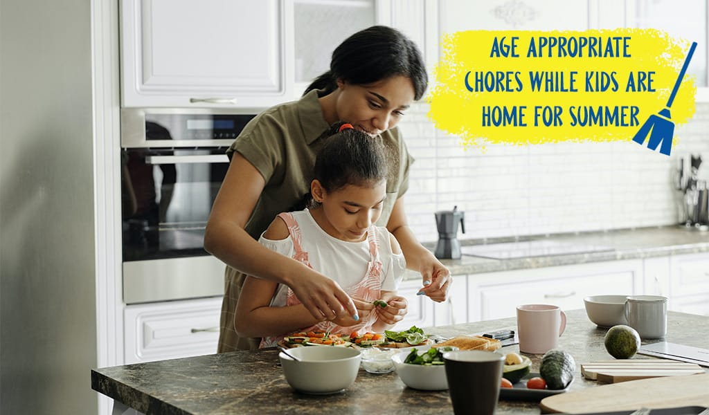 Age Appropriate Chores While Kids Are Home For the Summer