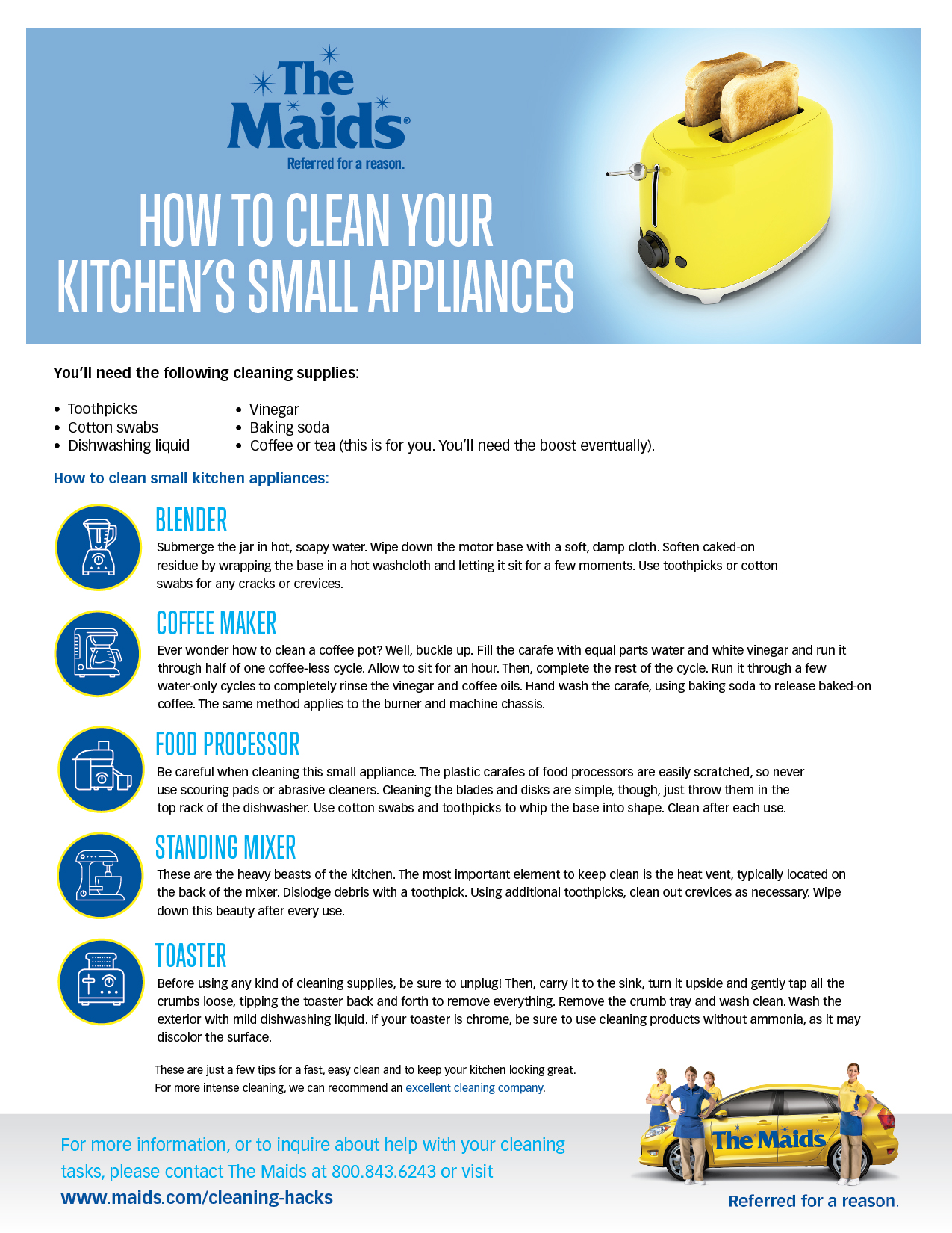 How to Clean Your Kitchen\'s Small Appliances - A Checklist from The ...