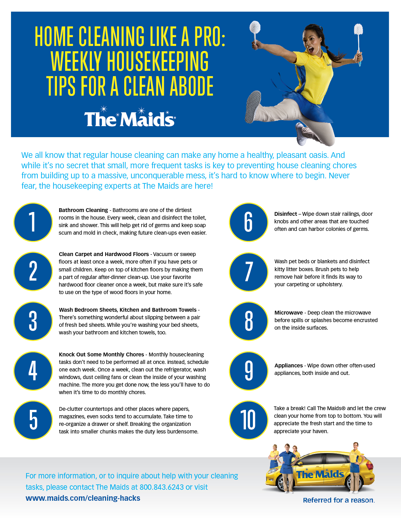 Or Print This Checklist Here Home Cleaning Like A Pro